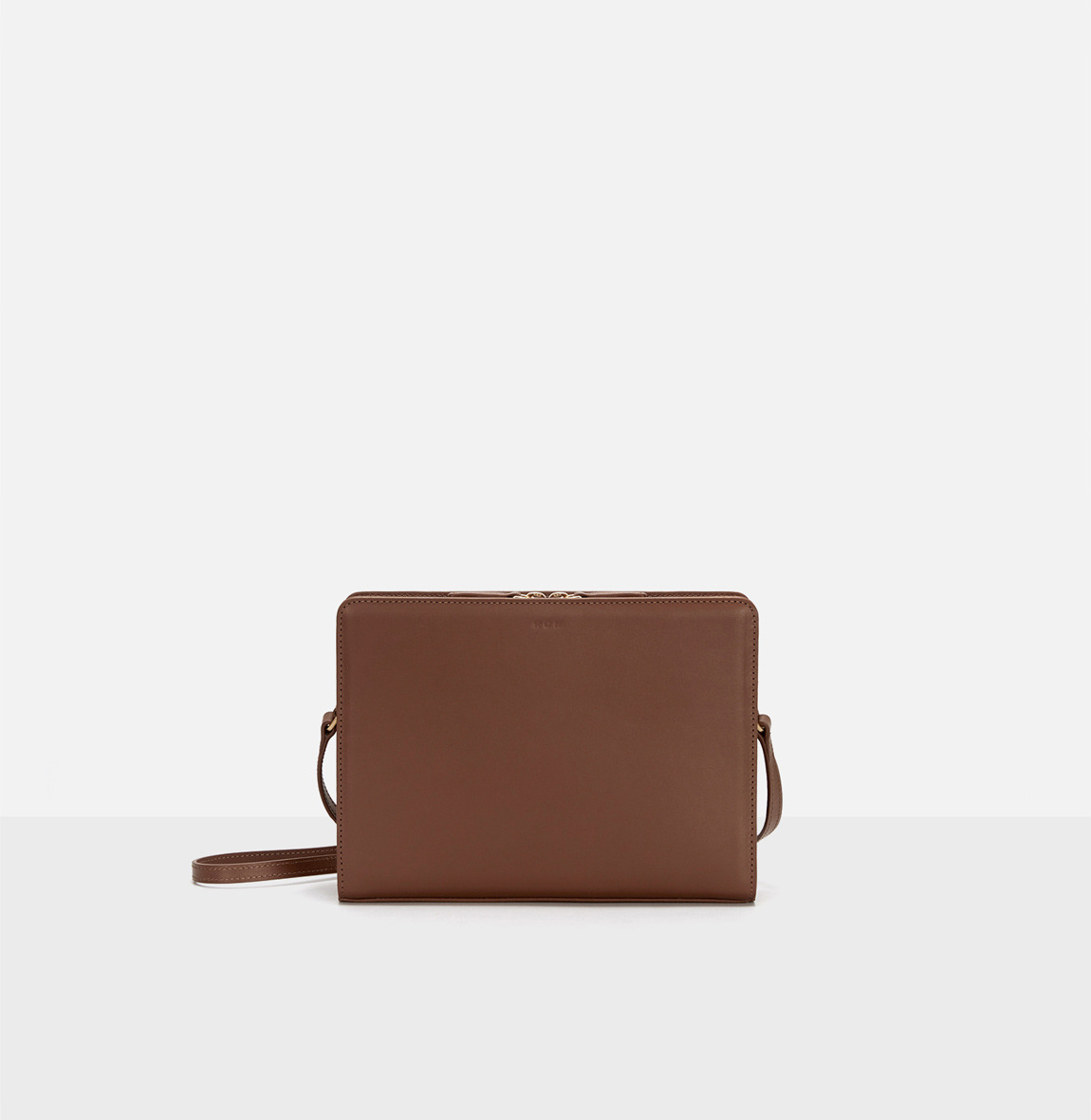 Square medium shoulder bag Smoky Tan