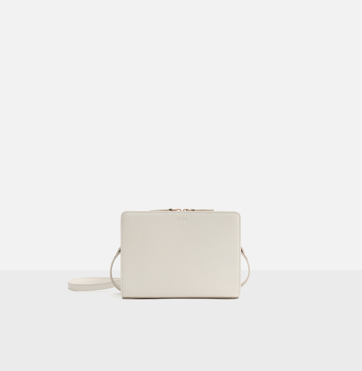 Square small shoulder bag Ivory