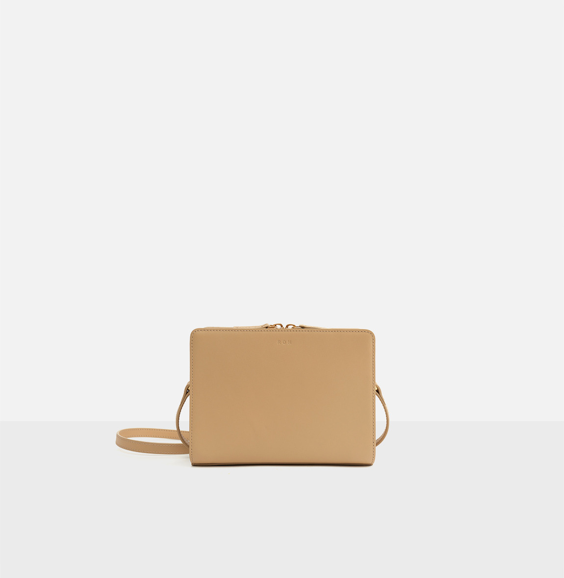 Square small shoulder bag Light ocher