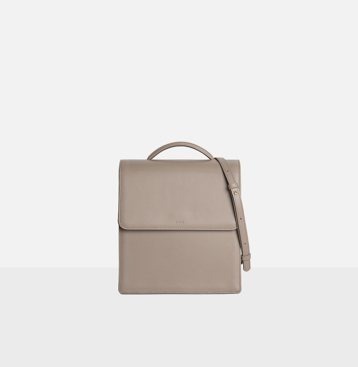 [20SS NEW]Flap medium satchel bag Beige